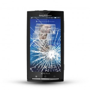 Sony Xperia X10 Reparatur LCD Dispay Touchscreen Glas Black