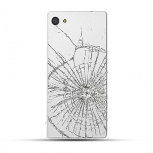 Sony Xperia Z5 Compact Reparatur Backcover Glas Weiss