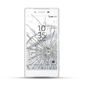 Sony Xperia Z5 Reparatur LCD Display Touchscreen Glas Weiss