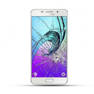 Samsung Galaxy A5 2016 Reparatur LCD Display Touchscreen Glas weiß