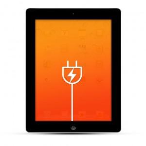 Apple iPad 2 / 3 Reparatur USB Dock / Ladebuchse Schwarz
