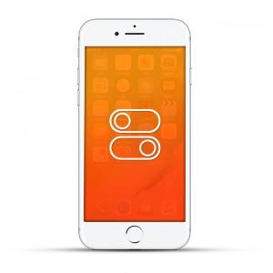 Apple iPhone 7 Reparatur Laut- / Leise Schalter oder Ein- / Aus Schalter Weiss