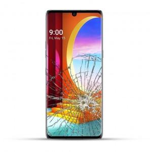LG Velvet Reparatur LCD Touchscreen Display LCD schwarz