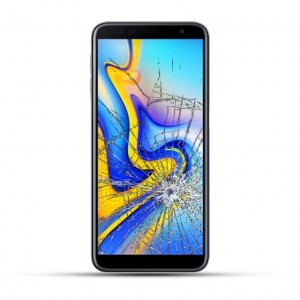 Samsung Galaxy J6 Plus Reparatur Display Touchscreen Glas schwarz