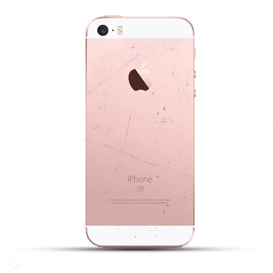 apple iphone se backcover reparatur tausch wechsel ohne material service4handys. Black Bedroom Furniture Sets. Home Design Ideas