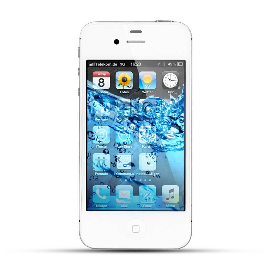 apple iphone 4 4s reparatur wasserschaden behandlung service4handys. Black Bedroom Furniture Sets. Home Design Ideas