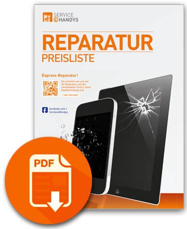 Reparatur-Preisliste